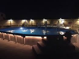 inground pools at night. Above Ground Pools #593 Inground At Night
