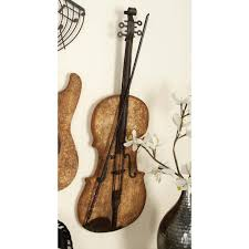 new traditional metal and wooden electric guitar wall decor 54614 the home depot