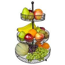 Metal fruit basket Rectangular Image Unavailable Amazoncom Amazoncom Tier Country Rustic Chicken Wire Style Metal Fruit