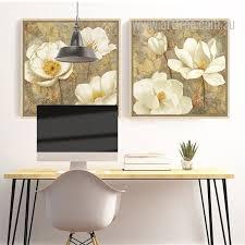 retro style golden white magnolia floral wall art on white magnolia wall art with golden white magnolia flower arttree