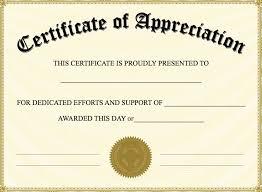 Certificate Of Appreciation Template The Certificate Has A