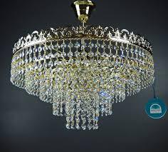 Kronleuchter Deckenleuchter Viktoria ø46cm 6flammig Mit Spectra Crystal Von Swarovski