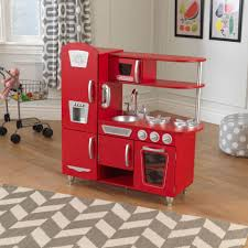 Retro Play Kitchen Set Red Vintage Play Kitchen