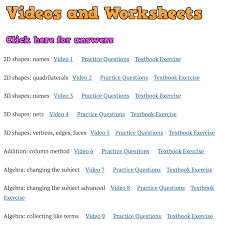 T Chart Math Worksheets Videos And Worksheets Corbettmaths