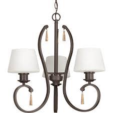 club collection 3 light antique bronze chandelier