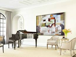 large horizontal art canvas painting original modern art large wall art blue