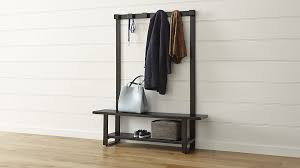 entry way table storage bench with coat rack