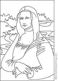 Small Picture Leonardo da Vinci Mona Lisa Coloring Page EnchantedLearningcom