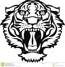 черная белизна тигра Tattoo иллюстрация вектора иллюстрации