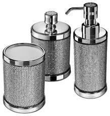 bathroom accessories sets silver. Marvelous Idea 3 Silver Bathroom Accessories Set Starlight With Swarovski Piece Sets G