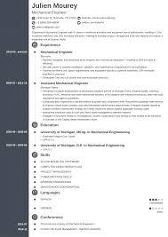 Mechanical Engineer Resume Examples Template Guide