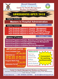 bvutraining for better health care services admissions open for academic year 2018 2019