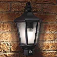 auraglow pir motion sensor vintage outdoor security wall light chester