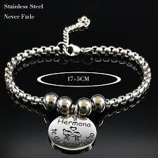 <b>2019</b> Hermana <b>te quiero</b> mucho Stainless Steel Bracelets for ...