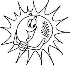 Un Sole Con Le Braccia E Le Mani Da Colorare Disegni Da Colorare E