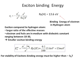 exciton binding energy