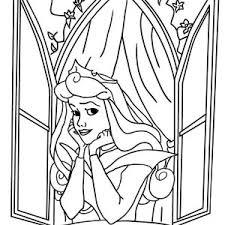 300x300 disney princess aurora open her window in sleeping beauty coloring
