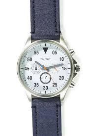 aviator watch cotton on men navy silver aviator watch