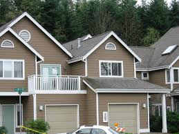 exterior window trim paint ideas. architecture incredible brown house exterior paint idea with balcony white balustrade window frames and gray doors beautiful hou trim ideas