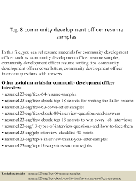 Community Development Officer Sample Resume top224communitydevelopmentofficerresumesamples224lva224app62249224thumbnail24jpgcb=2242432299277 1