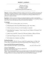 Front End Developer Resume Fascinating A Resume Robert L Gorman Senior Front End Web Developer 484848