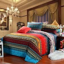 vintage style bedding sets aqua blue and garnet red vintage style exotic pattern multi color stripe