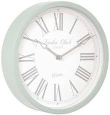 london clock company alice sage green wall clock