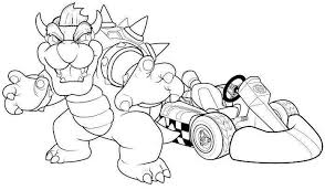 Small Picture Mario Kart Coloring Pages 29247 Bestofcoloringcom