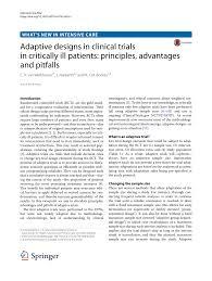 Adaptive Design Clinical Trial Pdf Adaptive Designs In Clinical Trials In Critically Ill