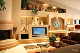 contemporary southwest style custom media wall home entertainment custom wall units for family room