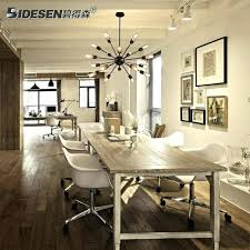 industrial dining table lighting designs