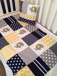 Best 25+ Crib quilts ideas on Pinterest | Baby quilt patterns ... & Elephant Crib Quilt in navy gray and yellow by AlphabetMonkey, $170.00 Adamdwight.com