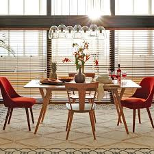 attractive mid century modern dining room chairs mid century dining chair west elm
