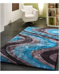 turquoise and gray area rug vibrant waves turquoise gray and silver hand tufted area rug