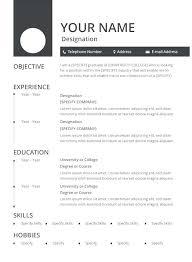 Vita Resume Template Curriculum Vitae Resume Format Resume