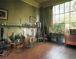 Cezanne's studio in Aix-en-Provence, France Cezanne, like many artists,  built a window wall on the north side of his studio to take advantage of  the ...