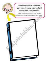 make a book cover worksheet