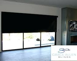 roller shades for sliding glass doors window treatments for sliding glass doors grace design motorized solar roller shades for sliding glass doors