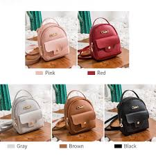 details about women girls mini bags backpack faux leather shoulder rucksack school travel bag