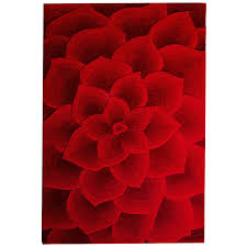 rose tufted red rug  pier  imports