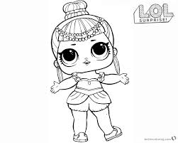 Lol Surprise Doll Coloring Pages Series 2 Genie Free Printable