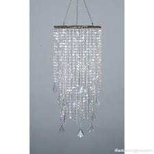 flavorthings 2 tiers 20 5 tall sparkling iridescent acrylic beaded hanging chandelier great idea for wedding chandeliers