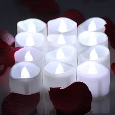 Cool Candle Omgai 12pcs Flameless Tea Lights Candles With Timer White Bright