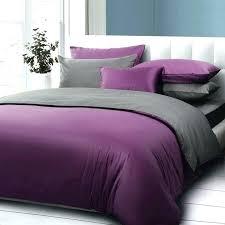 purple and dark gray solid color 5pcs comforter bedding set queen size 100 cotton duvetplain duvet