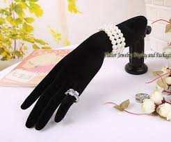 Black Velvet Jewelry Display Stands High Quality Black Velvet Jewelry Display Hand Model Form Bracelet 71