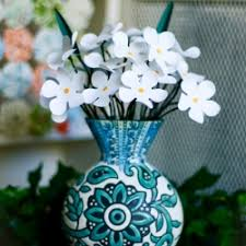 Paper Flower Base Diy Paper Flowers In A Vase Crafthubs