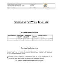 Simple Statement Of Work Template 5 Statement Of Work Templates Word Free Sample Templates