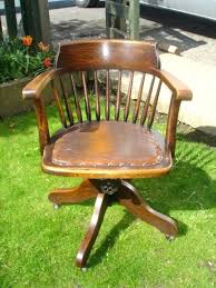vintage office chairs for sale. Wooden Captains Swivel Chair Oak Office Antique Chairs Sale Leather Vintage For L