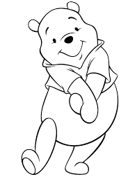 Small Picture Cute Disney Pooh Bear Coloring Page H M Coloring Pages
