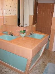 bathroom tile designs 2012. Mid-century-peach-tile-bath Bathroom Tile Designs 2012